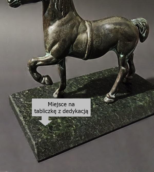 Stara mosiężna figurka konia Antyki sklep