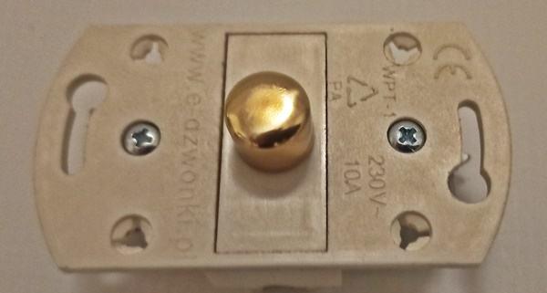 mechanizm przycisku do dzwonka 230V