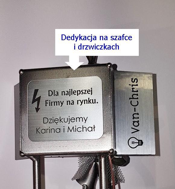 Na prezent figurka elektryka z podwójną dedykacją