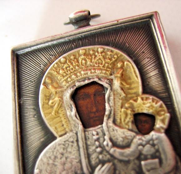 Srebrna ikona częstochowska