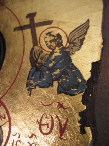 św. Aniołek z krzyżem