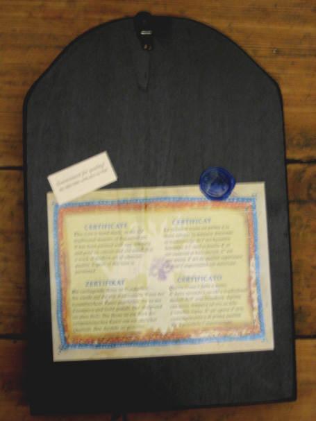 Ikona bizantyjska z certyfikatem
