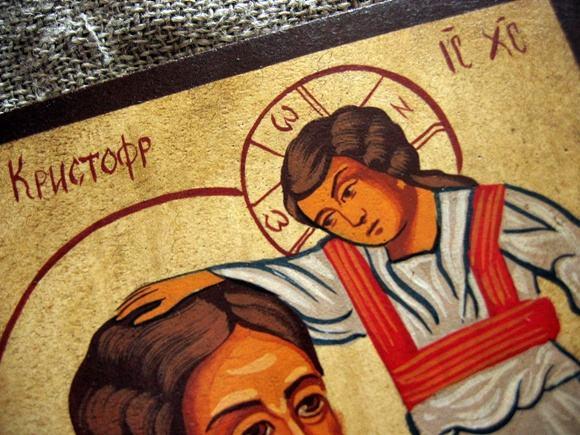 Krzysztof Ikona pisana malowana