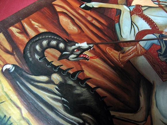 Ikona malowana św Jerzy