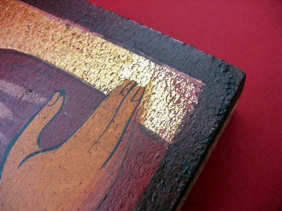 Ikona ręcznie malowana na desce