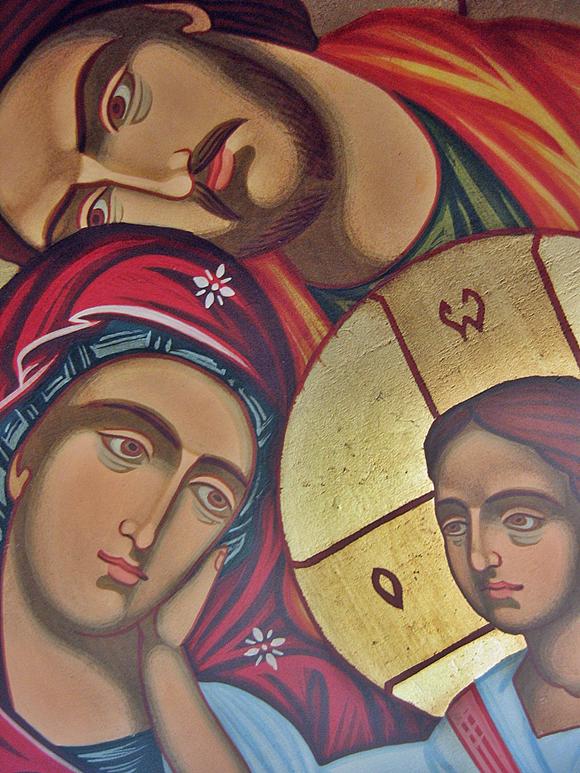 Duża ikona święta Rodzina oryginal