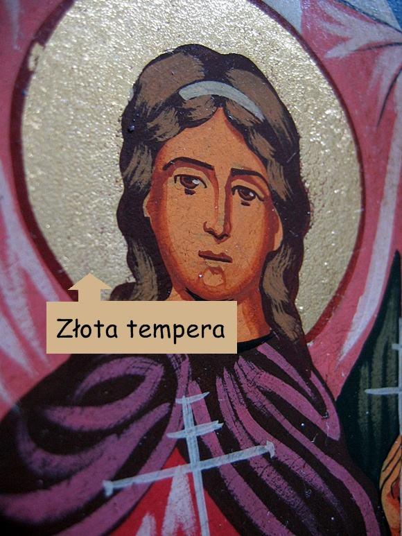 Ikona malowana złotą temperą
