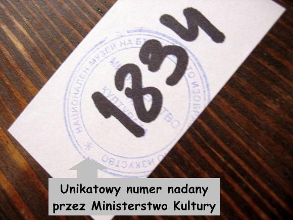 Numer certyfikatu ikony