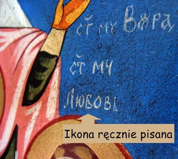 Ikona na desce ręcznie pisana