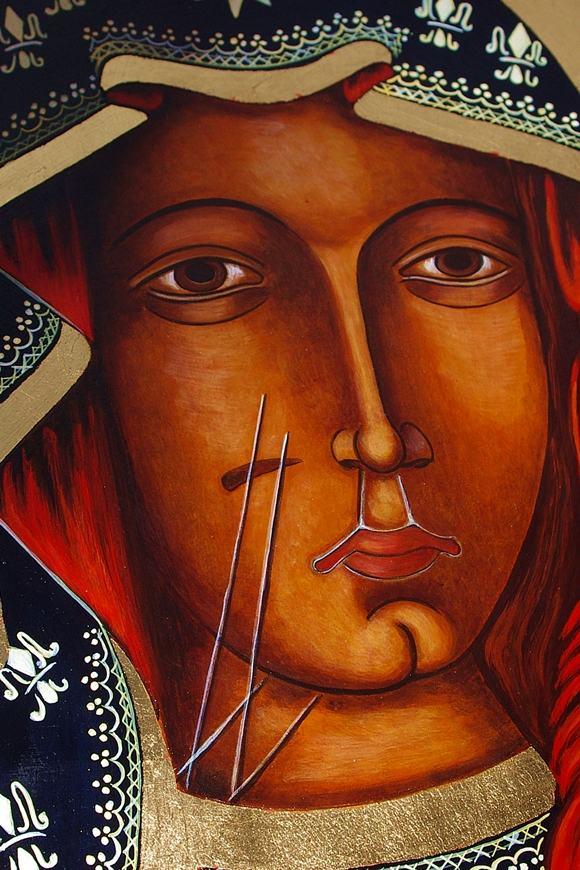 ładna Ikona na desce ręcznie pisana malowana