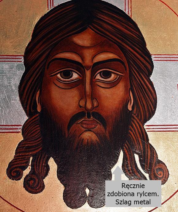 Mandylion ikona malowana na desce
