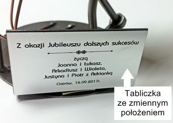Tabliczka z grawerem na prezent Figurka