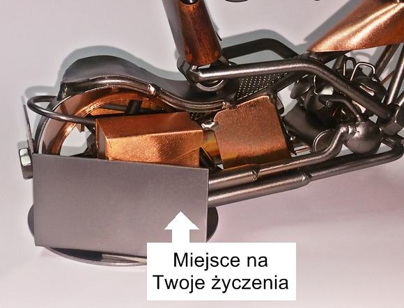 Metalowy model z grawerem na prezent