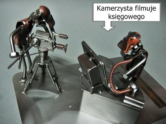 Podwójna metalowa figurka na prezent