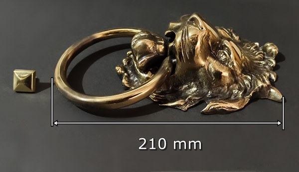 dekoracyjna kołatka z głową lwa mosiężne rękodzieło