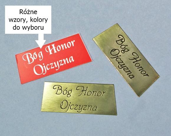 Orzełek z grawerem Bóg Honor Ojczyzna