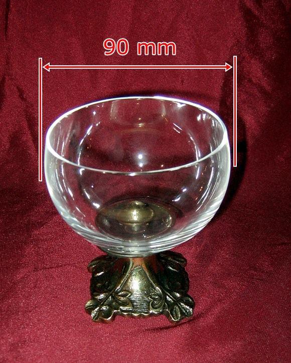Kryształowa kropielnica - cukiernica