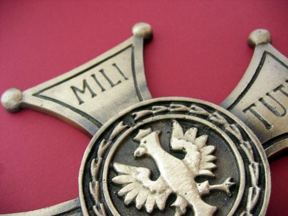 Krzyż Virtuti Militari duży mosiężny