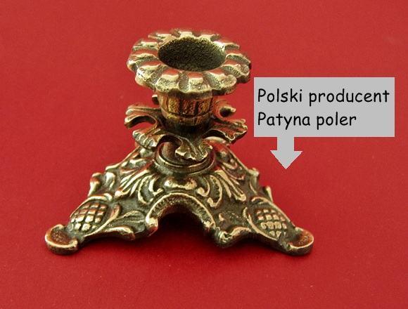 Mosiężny świecznik Polski producent