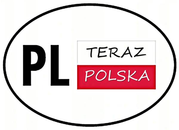 Teraz Polska emblemat orła dla kierowcy tira ciężarówki i autobusu