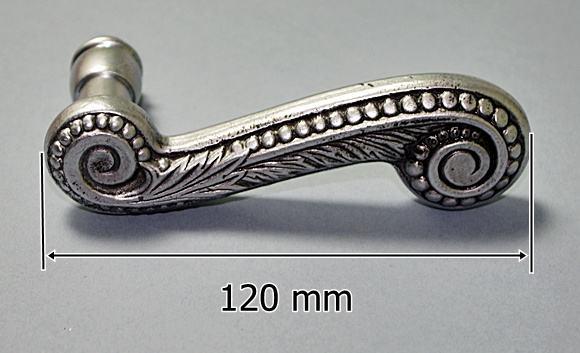 Masywnie Klamki mosiężne z rozetą na klucz - Stare srebro Mat ,Wyjątkowe LB78