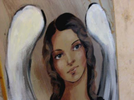 obraqzek aniolka rękodzieło
