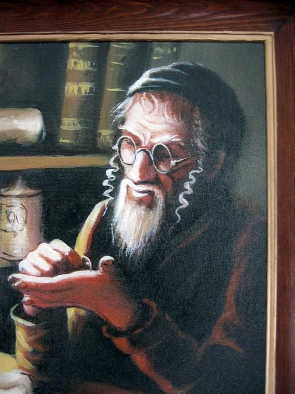 Obraz olejny na płotnie żyda