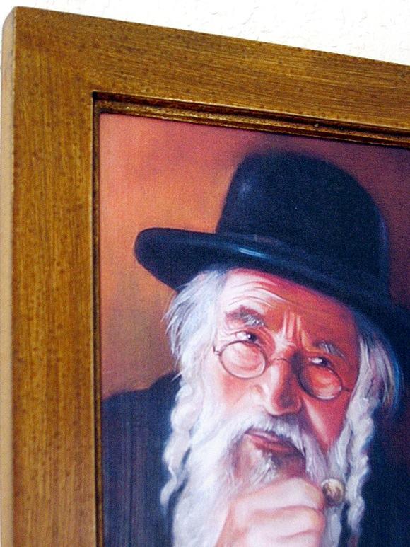 Mały obrazek żyda z pieniązkiem