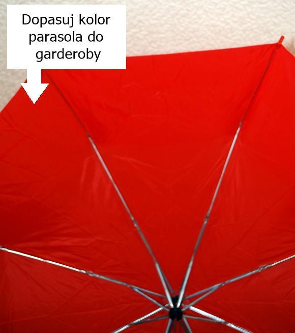Czerwony tulipan Parasol damski składany