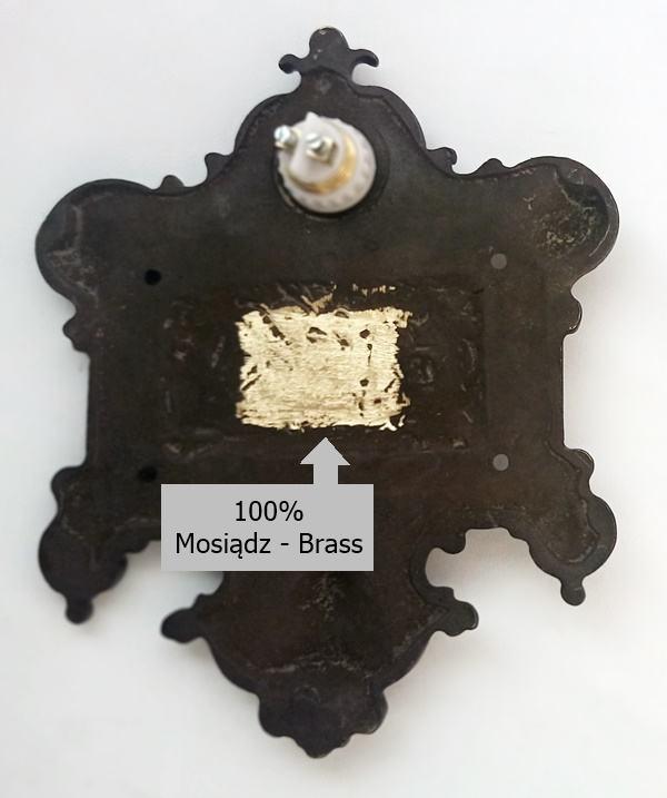 Mosiężna czarna wizytówka z przyciskiem do dzwonka