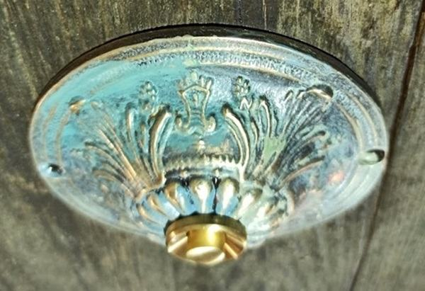 Mosięzny dekoracyjny przycisk do dzwonka kolor Vintage