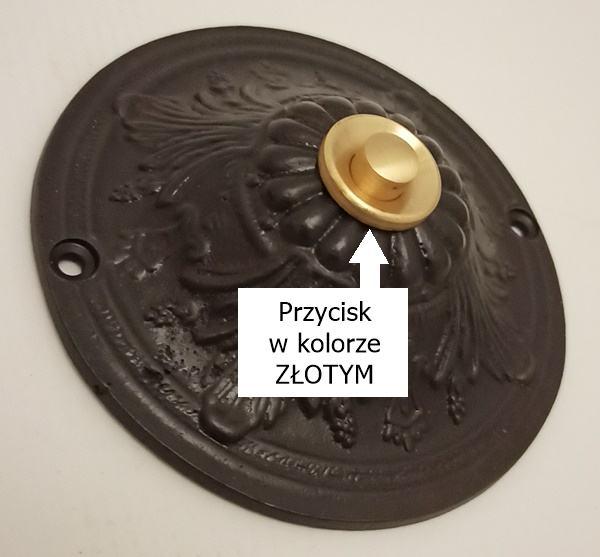 Stylowy dekoracyjny przycisk do sterowania dzwonkiem