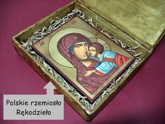 Drewniana skrzynka Polskie rzemiosło rękodzieło
