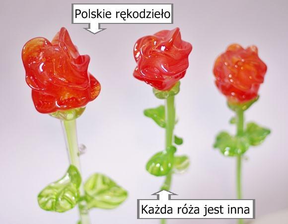 Szklane kryształowe róże