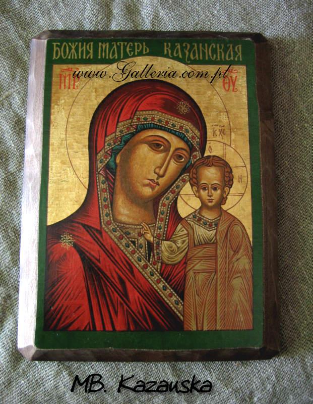 Ogromnie Duża ikona Matka Boża Kazanska ikona Grecka bizantyjska (2S FA07