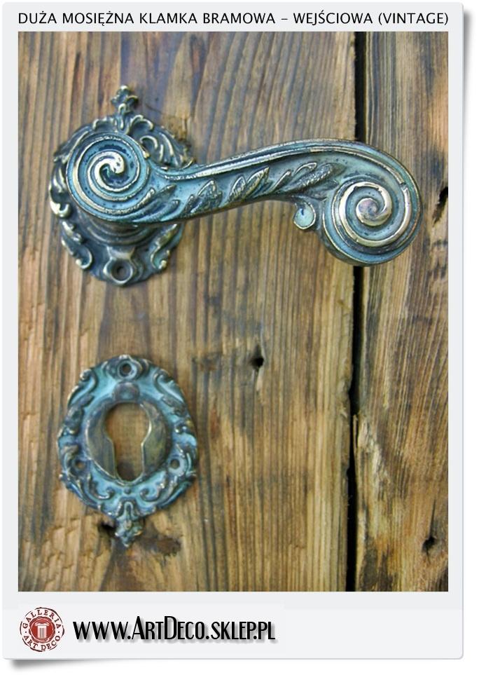 Świeże Duże mosiężne klamki wejściowe do drzwi zewnętrznych (Vintage RQ99
