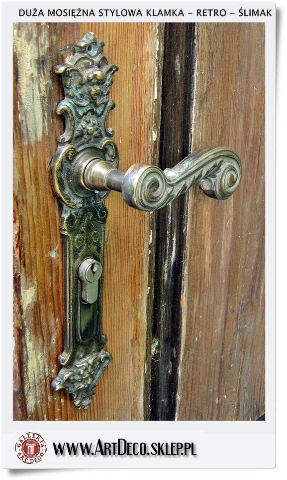 Inne rodzaje Jakie Duże mosiężne Klamki do drzwi zewnętrznych   Klamka Vintage VL82