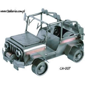 JEEP Wrangler 4 x 4 metalowy model DIY