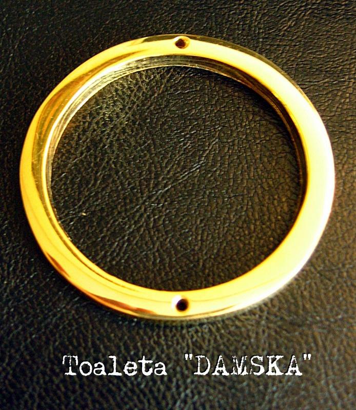 Mosiężny Znaczek Toaleta Damska Kolor Złoty Jakość Nr 1 Dekoracja Prezenty