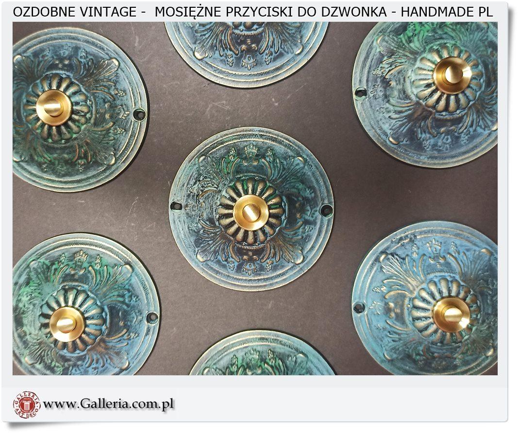 Ozdobne przyciski Vintage do stylowej kamienicy