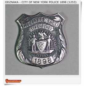 Odznaka City of New York POLICE 1898 (1253)