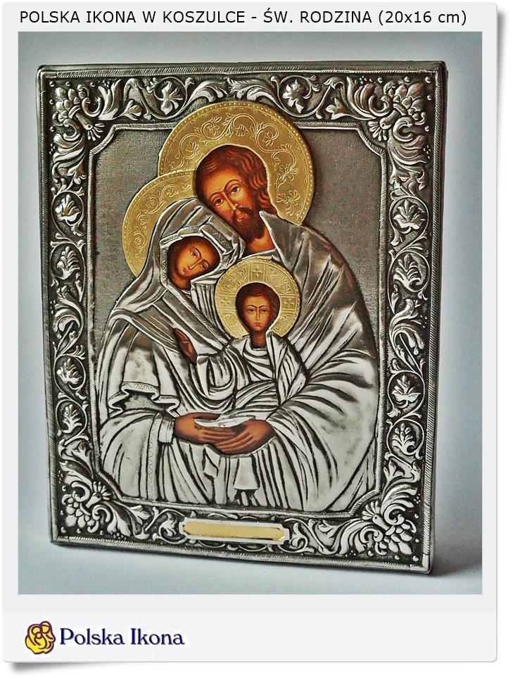 święta Rodzina W Koszulce Ikona Na Prezent 20 X16 Cm 5