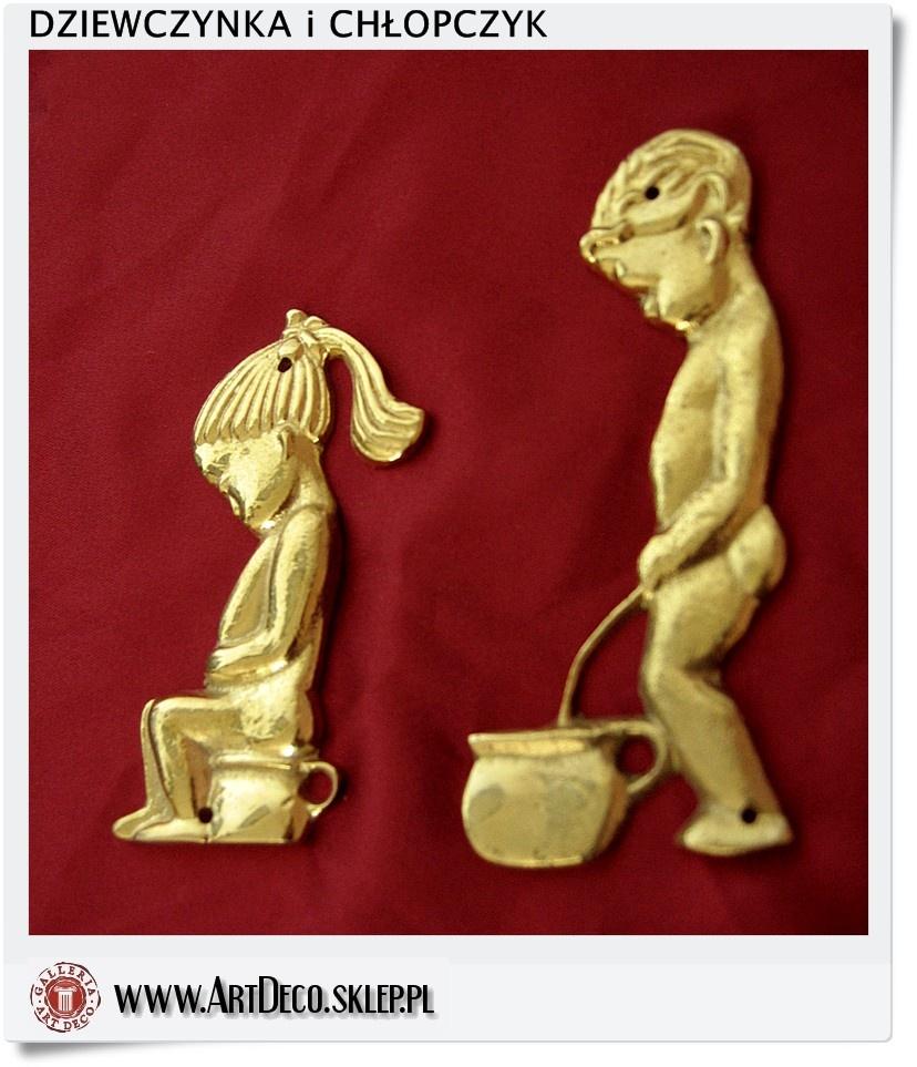 Jak Złote Znaczki Na Drzwi Oznaczenie Wc łazienka Dla Dzieci